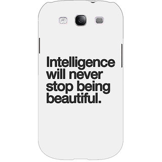 EYP Quotes Intelligence Beautiful Back Cover Case For Samsung Galaxy S3 51186