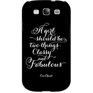 EYP Quote Back Cover Case For Samsung Galaxy S3 Neo 341409