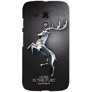 EYP Game Of Thrones GOT House Baratheon  Back Cover Case For Moto G (1st Gen) 130169