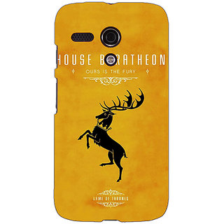 EYP Game Of Thrones GOT House Baratheon  Back Cover Case For Moto G (1st Gen) 130172