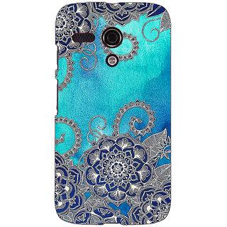 EYP Blue Doodle Pattern Back Cover Case For Moto G (1st Gen) 130209