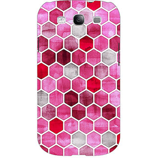 EYP Red Hexagons Pattern Back Cover Case For Samsung Galaxy S3 Neo 340269