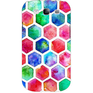 EYP Colour Hexagons Pattern Back Cover Case For Samsung Galaxy S3 Neo 340284