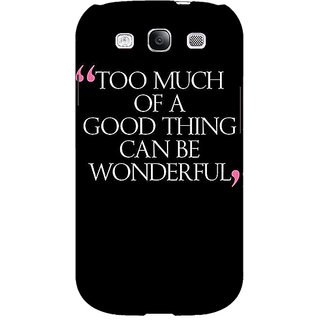 EYP Quote Back Cover Case For Samsung Galaxy S3 Neo 341292
