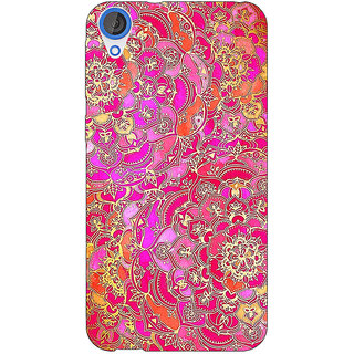 EYP Hot Floral  Pattern Back Cover Case For HTC Desire 820Q 290241