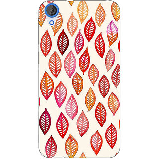 EYP Red Leaves Pattern Back Cover Case For HTC Desire 820Q 290253