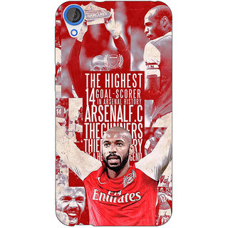 EYP Arsenal Therry Henry Back Cover Case For HTC Desire 820Q 290514