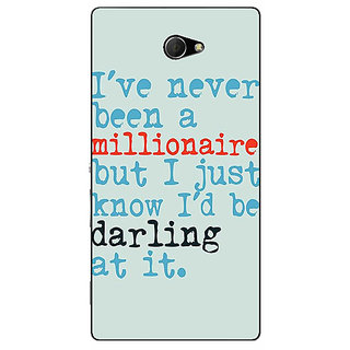 EYP Quote Back Cover Case For Sony Xperia M2 Dual 321339