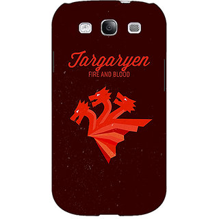 EYP Game Of Thrones GOT House Targaryen  Back Cover Case For Samsung Galaxy S3 Neo GT- I9300I 350137