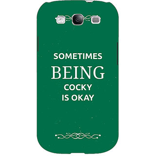 EYP SUITS Quotes Back Cover Case For Samsung Galaxy S3 Neo GT- I9300I 350479