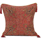 ANCHOR - Heavy Embroidery Rust Cushion Cover - Set Of 2