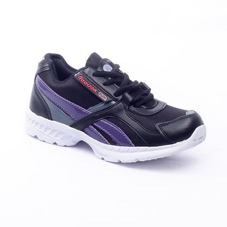Foot 'n' Style Comfortable Black & Blue Sports Shoes (fs422)
