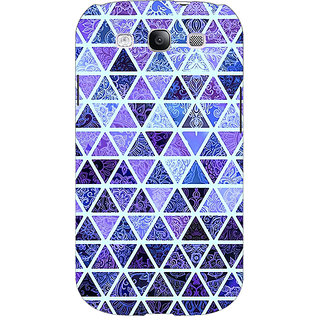 EYP Blue triangles Pattern Back Cover Case For Samsung Galaxy S3 Neo GT- I9300I 350267