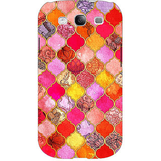 EYP Red Moroccan Tiles Pattern Back Cover Case For Samsung Galaxy S3 Neo GT- I9300I 350289