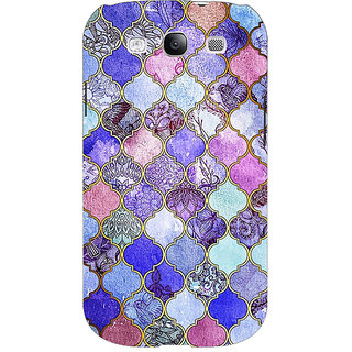 EYP Purple Moroccan Tiles Pattern Back Cover Case For Samsung Galaxy S3 Neo GT- I9300I 350291