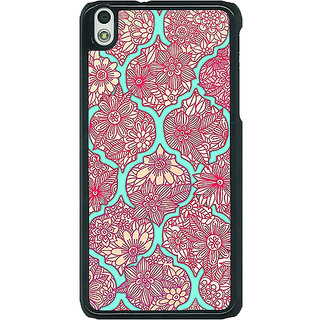 EYP Pink Morroccan Pattern Back Cover Case For HTC Desire 816G 400242