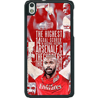 EYP Arsenal Therry Henry Back Cover Case For HTC Desire 816G 400514