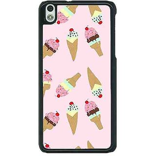 EYP Ice Cream Doodle Back Cover Case For HTC Desire 816G 401326