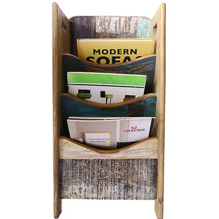 Mavi Wooden Magazine Rack Holder-MMR-951