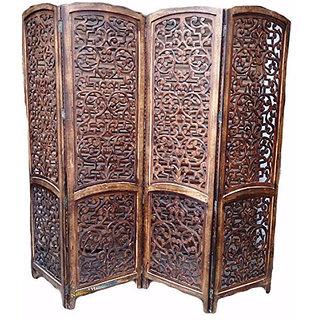 Buy National Handicrafts Wooden Folding Partition Screen Room