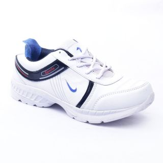 Foot 'n' Style Comfortable White Sports Shoes (fs436)