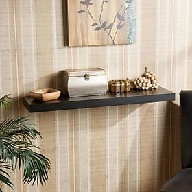 DecorNation Floating Wall Shelf 30 Inches (Black)
