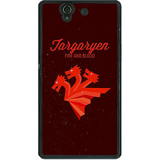 EYP Game Of Thrones GOT House Targaryen  Back Cover Case For Sony Xperia Z