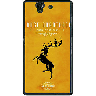 EYP Game Of Thrones GOT House Baratheon  Back Cover Case For Sony Xperia Z