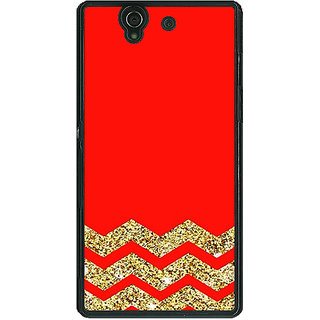 EYP Orange Faux Glitter Back Cover Case For Sony Xperia Z