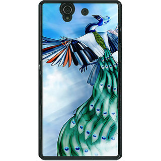 EYP Paisley Beautiful Peacock Back Cover Case For Sony Xperia Z