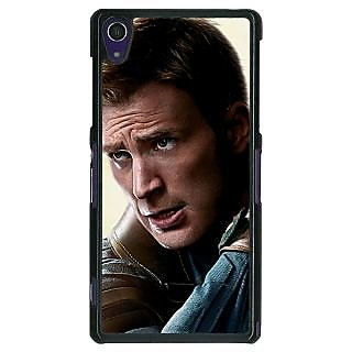 EYP Captain America Back Cover Case For Sony Xperia Z1