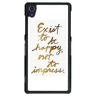 EYP Happy Quotes Back Cover Case For Sony Xperia Z1