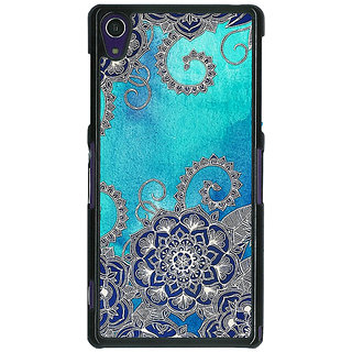 EYP Blue Doodle Pattern Back Cover Case For Sony Xperia Z1
