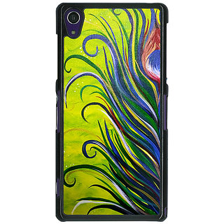 EYP Paisley Beautiful Peacock Back Cover Case For Sony Xperia Z1