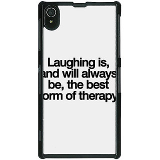 EYP Laughter Quote Back Cover Case For Sony Xperia Z2