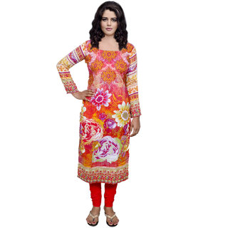 Indiweaves Women Viscose Printed Unstitched Kurti Fabric (30052-IW)