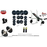Gofitindia 54 Kg WEIGHT PLATES 4 RODS KAMACHI BENCH FOR HOME GYM