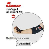 KAMACHI ELBOW SUPPORT WITH VELCRO K-650 ONE SIZE FITS ALL