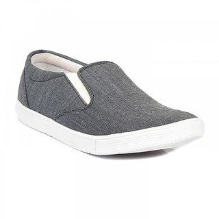 Blue-Tuff Mens Casual Canvas Classic Shoes BT-320 Grey