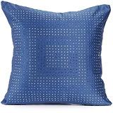 DISCO - Blue Polysilk Swarovski Cushion Cover - Set Of 2