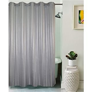 Lushomes Unidyed Grey Violet Polyester Shower Curtain with 10 Eyelets