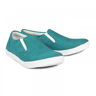 Blue-Tuff Mens Casual Canvas Classic Shoes BT-320 GREEN