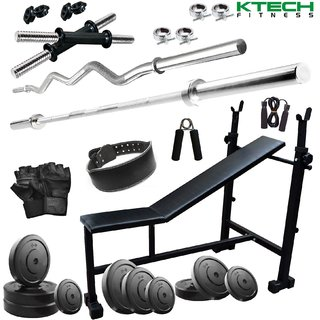 KTECH 105KG COMBO 6-WB HOME GYM