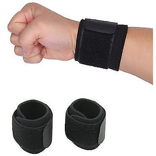 Gym Wrist Sports Elastic Brace Support Wrap Strap Band One Size Excellent.