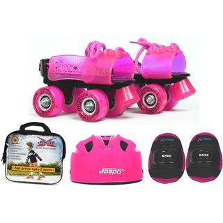 Jaspo Pink Heaven Eco junior Skates Combo (skates+helmet+knee+bag)suitable for a
