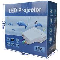 Projector Mini 1080P HD Multimedia Home Cinema, Gaming  More