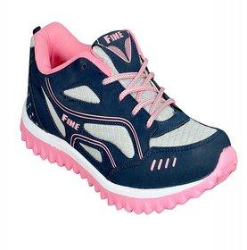 Jollify Men's Pink  Blue Running Shoes