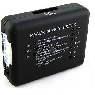 PC Power Supply Tester 20/24 Pin PSU ATX SATA HDD SMPS: Buy PC Power ...