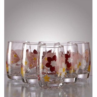 Green Apple Dazzling Nature Curved Glasses - Set of 12