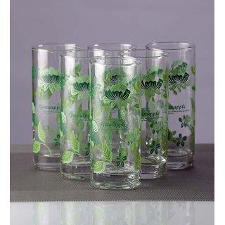 Green Apple Gladious Glass Long Glasses - Set of 12